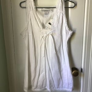 Gretchen Scott Designs long white tank